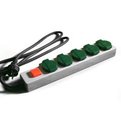 5-socket outlet strip - IP44 - EU-Plug