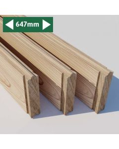 Raised Bed Panels for Extension - 3 Pack -  647 mm